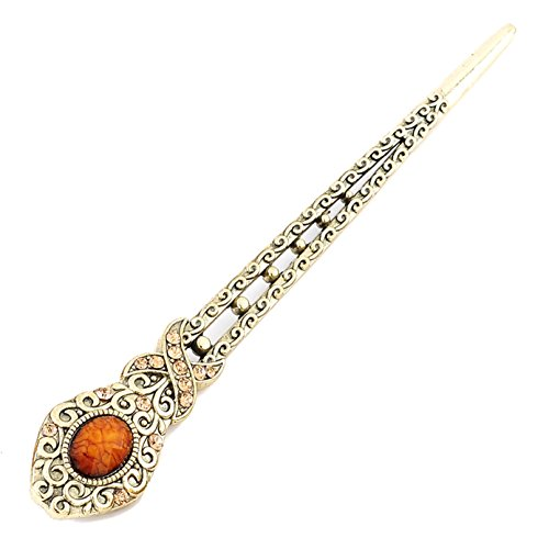YOY Fashion Hair Decor Chinese Traditional Style Women Girls Hair Stick Hairpin Hair Making Accessory,Coffee Turquoise