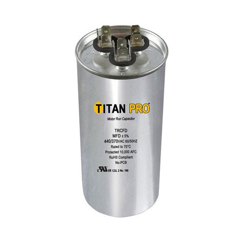 PACKARD TRCD605 Titan Pro 60+5 MFD 370V Round Run Capacitor by TITAN PRO