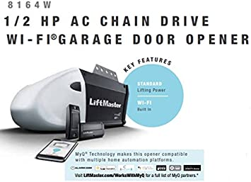 Liftmaster 1345 Replaced By 8164w Contractor Series 1 2 Hp Ac Chain Drive Wi Fi Garage Door Opener Without Rail Garage Door Hardware Amazon Com