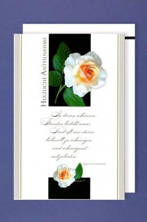 Corazón De Pésame Flores Tarjeta Plegable Para Lutocondolencias