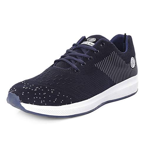 Bacca Bucci® Running Shoes Men Lightweight Fashion Sneakers Walking Footwear Tennis Athletic Shoes for Outdoor Sport Gym Jogging Big Size UK-11 to 13 Blue