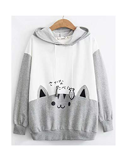 CRB Fashion Cosplay Anime Bunny Emo Girls Cat Bear Ears Emo Bear Top Shirt Pullover Sweater Hoodie (Style #3) ()