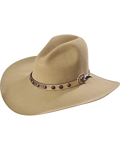 Stetson Men's 4X Broken Bow Buffalo Cowboy Hat Buck Tan 7 1/2