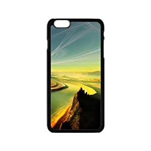 Personalized Creative Cell Phone Case For iPhone 6,winding mountains and rivers fancy landscape view