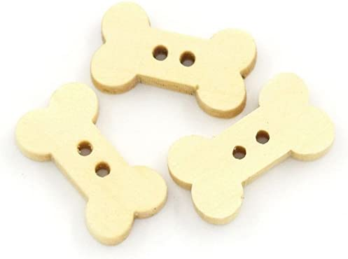 Wooden buttons bone shaped buttons with 2 holes