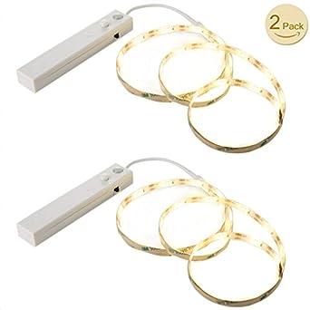 Tira de Luz LED de Goldbeing con detector de movimiento, funciona con batería, luz
