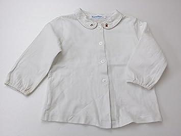 d771940160911 ファミリア 80 長袖カットソーブラウス 白 ブランド子供服