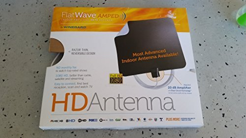 Winegard FlatWave Amped Indoor Amplified HDTV Antenna (FL5500Y)