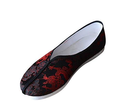 Interact China Ideale Schuhe für Tai Chi Kung Fu mit Handgenähter 8 Lagiger Baumwollsohle #201 Handgenähte Baumwollsohle