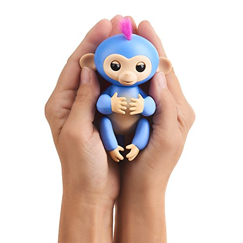 "WowWee Fingerlings Playset – Monkey Bar/Swing Playground with 1 Fingerlings Baby Monkey Toy ""Liv"" (Blue)"