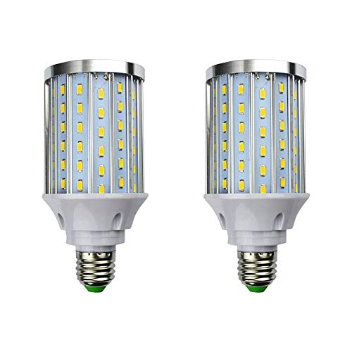 MD Lighting 30W E27 LED Corn Light Bulbs(2 Pack)- 108 LEDs 5730 SMD 2700 Lumen COB Light Lamp Ultra Bright Warm White 3000K LED Bulb 240 Watt Equivalent for Backyard Barn Outdoor Large Area, 85V-265V