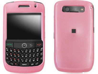 Hard Plastic Pink Phone Protector Case For BlackBerry Curve 8900