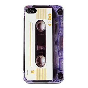 GJY Retro-Styled Tape Pattern Style Hard Case for iPhone 4 and 4S (White)