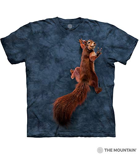 The Mountain Peace Squirrel Adult T-Shirt, Grey, 5XL