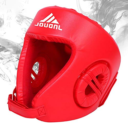 TKTTBD Boxing Headgear, Synthetic Leather MMA Headgear, Martial Arts Headgear UFC Fighting Head Guard Sparring Protector -