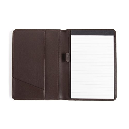 Leatherology Junior Padfolio with Pen Loop - Full Grain Leather - Chocolate Brown (brown) Leather Padfolio Pen