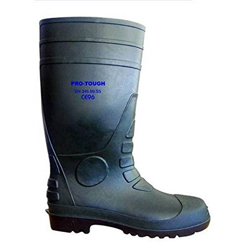 PRO-TOUGH GRN  Sicherheit Gummistiefel, Grün, 40 EU (6 UK)