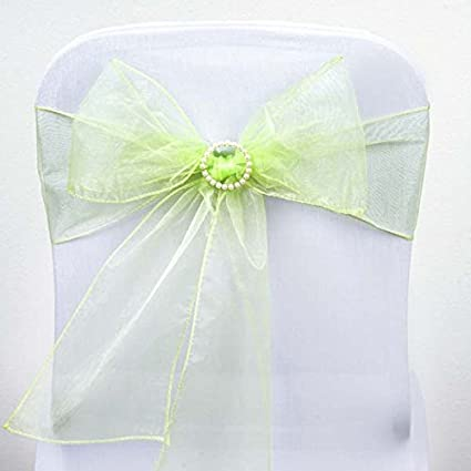 Efavormart 25pc x Wholesale Sheer Organza Chair Sashes Tie Bows For Chairs -Catering Wedding Decoration & Amazon.com: Efavormart 25pc x Wholesale Sheer Organza Chair Sashes ...