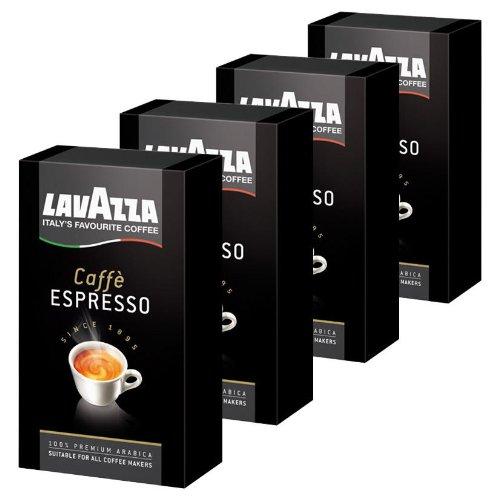 Lavazza Caffè Espresso, Café Molido, también para Cafeteras con Portafiltro, Pack de 4, 4 x 250g: Amazon.es: Alimentación y bebidas