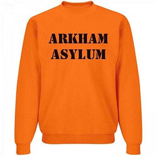 Arkham Asylum Inmate Costume (Arkham Asylum Costume 0801: Unisex Jerzees Neon Crewneck Sweatshirt)