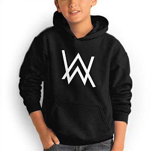 (Don Washington Alan Walker Logo Youth Hoodies Fashion Sweatshirts Pullover Black)