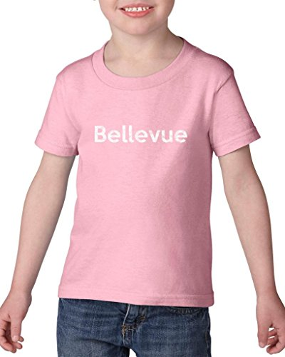 Ugo Bellevue WA Seattle Map Cougars Redhawks Huskies Home University of Washington Heavy Cotton Toddler Kids T-Shirt - Bellevue Stores