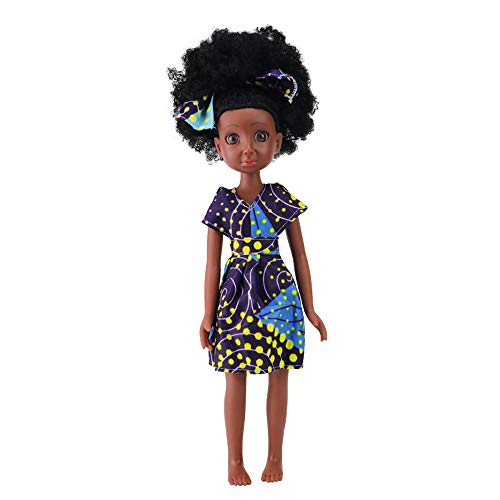 Princess Collectible Doll - TUSALMO 2019Newest 15-Inch Miniature Doll Fashion Princess Doll, Lifelike Ethyl Silicone Doll, Children's Birthday, Collectible African-American Holiday Doll.(Yellow Dress)