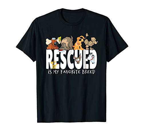 Rescue Dog Lover Shirt Rescued Is My Favorite Breed Dog Tees (Rescued Dog Clothes)