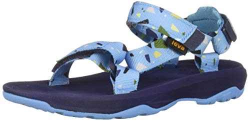 Teva Boys' K Hurricane XLT 2 Print Sport Sandal, TERRAZO Blue, 1 Medium US Little - Sandals Boys Teva