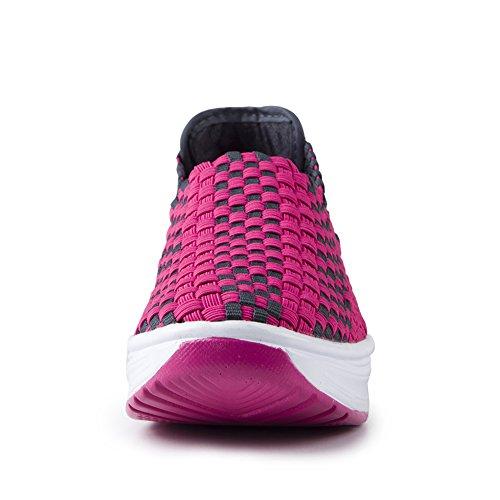 QZBAOSHU Shake Sneakers Ladies Running Weaving for Rose Shoes Red Casual Women PqrITP