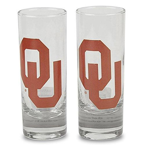 1 Cordial Glass (NCAA Color Team Logo 2oz Cordial Shot Glass 2-Pack (Oklahoma Sooners 1))