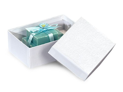 5-1/2x3-1/2x1-7/8'' White Swirl Jewelry Boxes w/ Cotton Fill (Unit Pack - 100) by Better crafts