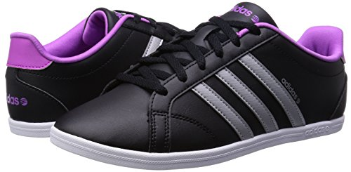 sports shoes fa33a 01a2a adidas Neo CONEO QT VS Zapatillas Sneakers Negro Purpura para Mujer   Amazon.es  Deportes y aire libre