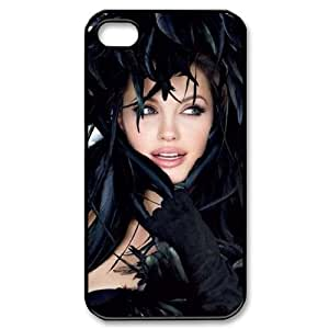 YUAHS(TM) Unique Phone Case for Iphone 4,4S with Angelina Jolie YAS124573