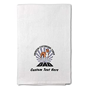 Custom Decor Flour Kitchen Towels Dad American Staffordshire Terrier Dog Pets Dogs Cleaning Supplies Dish Towels Design Only 18