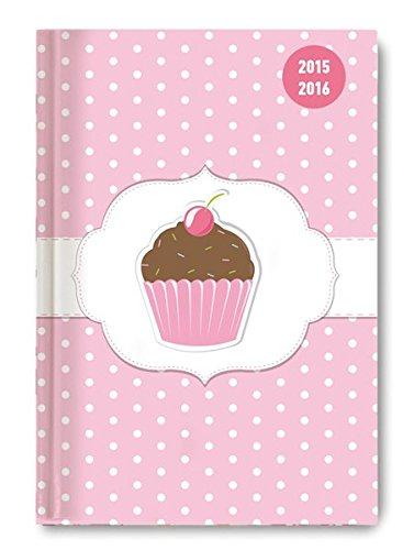 Collegetimer Pocket Cupcake 2015/2016 - Schülerkalender A6 - Weekly - 224 Seiten