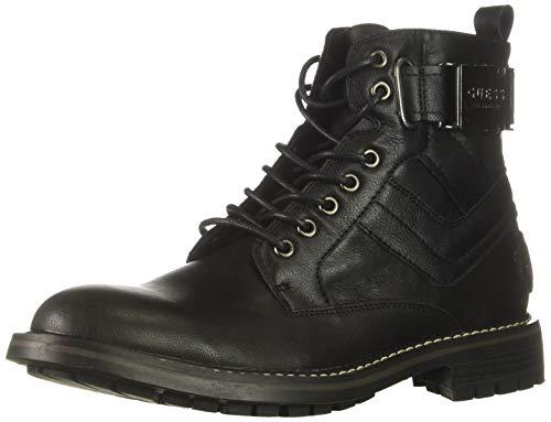GUESS Men's Rebel Combat Boot, Black, 9 M US