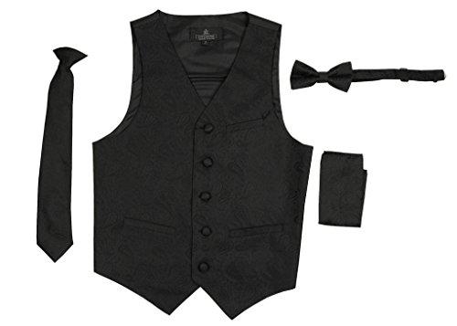 Tuxedo Vest Lime Satin - 5
