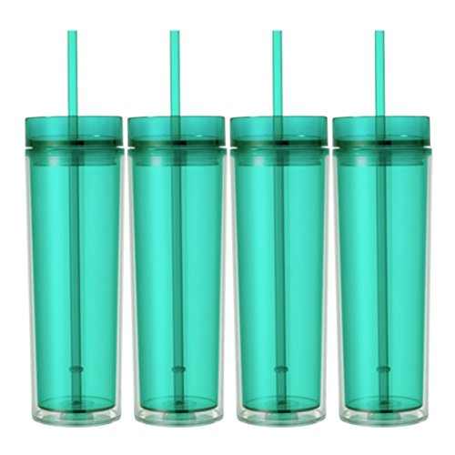 - Skinny Acrylic Tumbler Double Wall 16 Oz - Mint