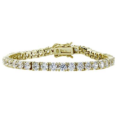 Designer Style Cubic Zirconia Bracelet (NANA Silver Swarovski CZ Tennis Bracelet- 8