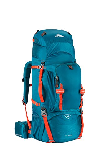 High Sierra 53716-4959 Tech Series Titan 65 Frame Backpack, Lagoon/Redline