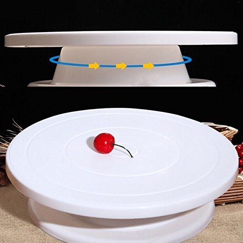Round Rotating Revolving Cake Turntable Decorating Stand Platform