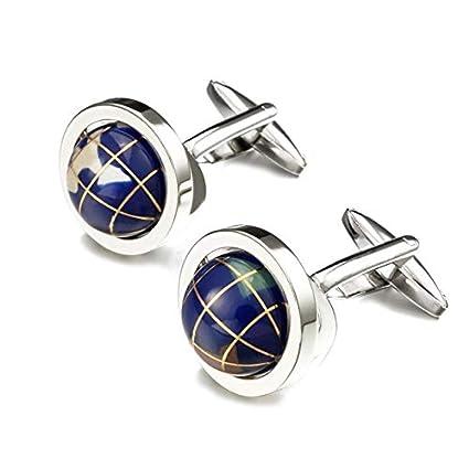 THNSIOE novit/à Globe Earth Gemelli Girevole di Alta qualit/à Globe Planet Earth Mappa del Mondo Gemelli per Gemelli da Uomo