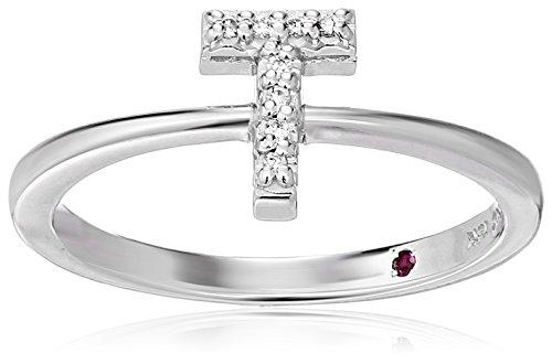 Roberto Coin Women's 001634AWLRXT Diamond Initial Ring, White, Size 7 ()