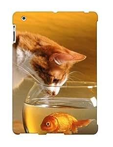 Cute High Quality Ipad 2/3/4 Warren Cat Fish Case
