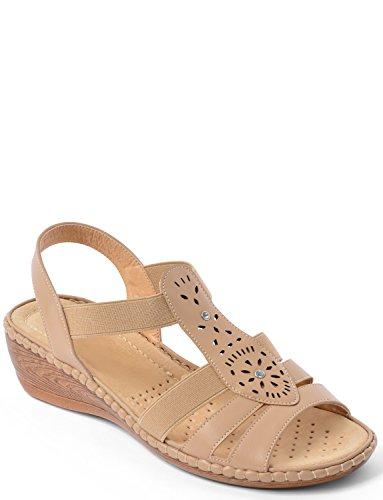Damen Polster Spaziergang Keil Sandale