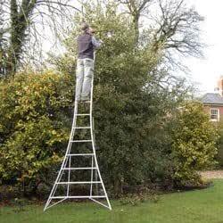 Completamente ajustable trípode escalera secuaz - 365,76 cm: Amazon.es: Jardín