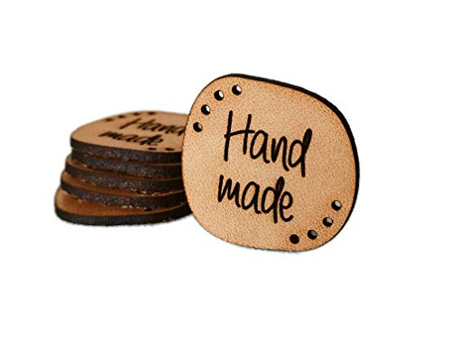 """Handmade Leather Label S2 """"hand made"""" 