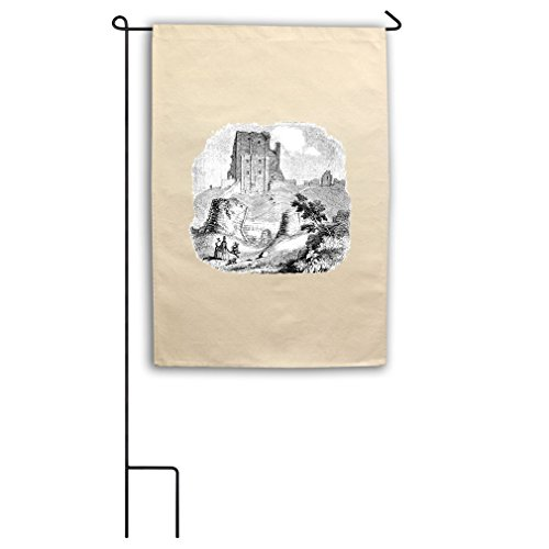Corfe Castles #1 Canvas Yard House Garden Flag 18