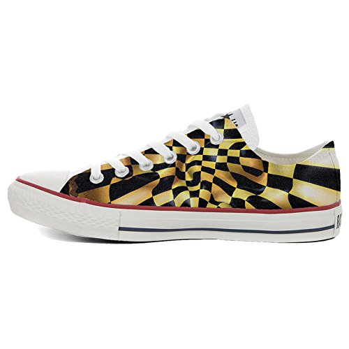 Handmade Fantasy All Star Converse Producto Slim Personalizados Chess Zapatos dX474n1q